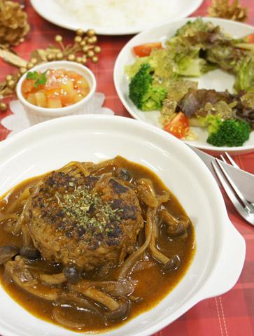 冬のおすすめ洋食『煮込みハンバーグ』