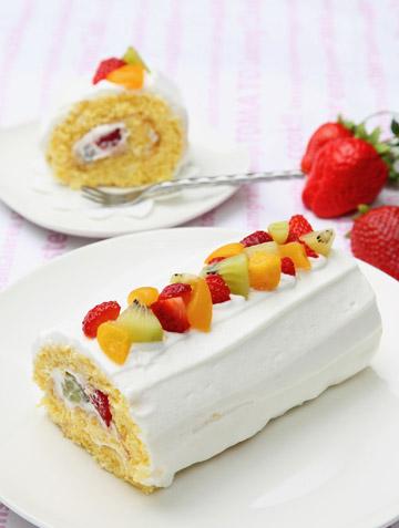 親子で作ろう♪フルーツロールケーキ