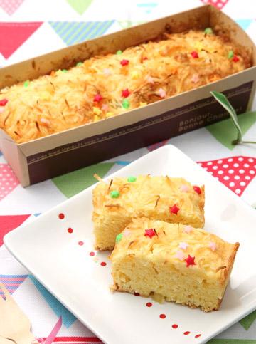 キッズ7B:パイナップルのパウンドケーキ