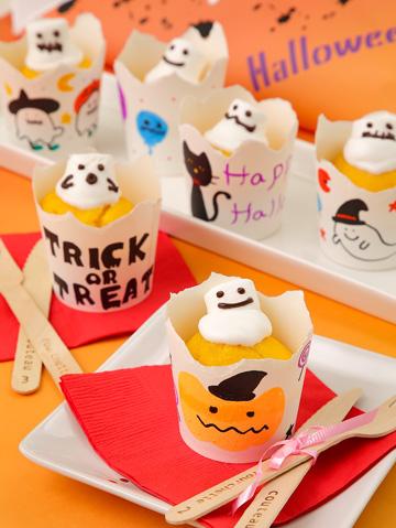 キッズ10A:ハロウィンカップケーキ