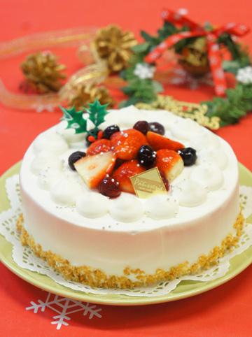 本格デコレーション『いちごとベリーのクリスマスケーキ』