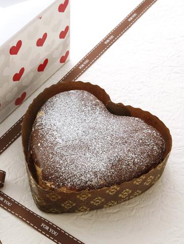 可愛いハート型の『ショコラチーズケーキ』