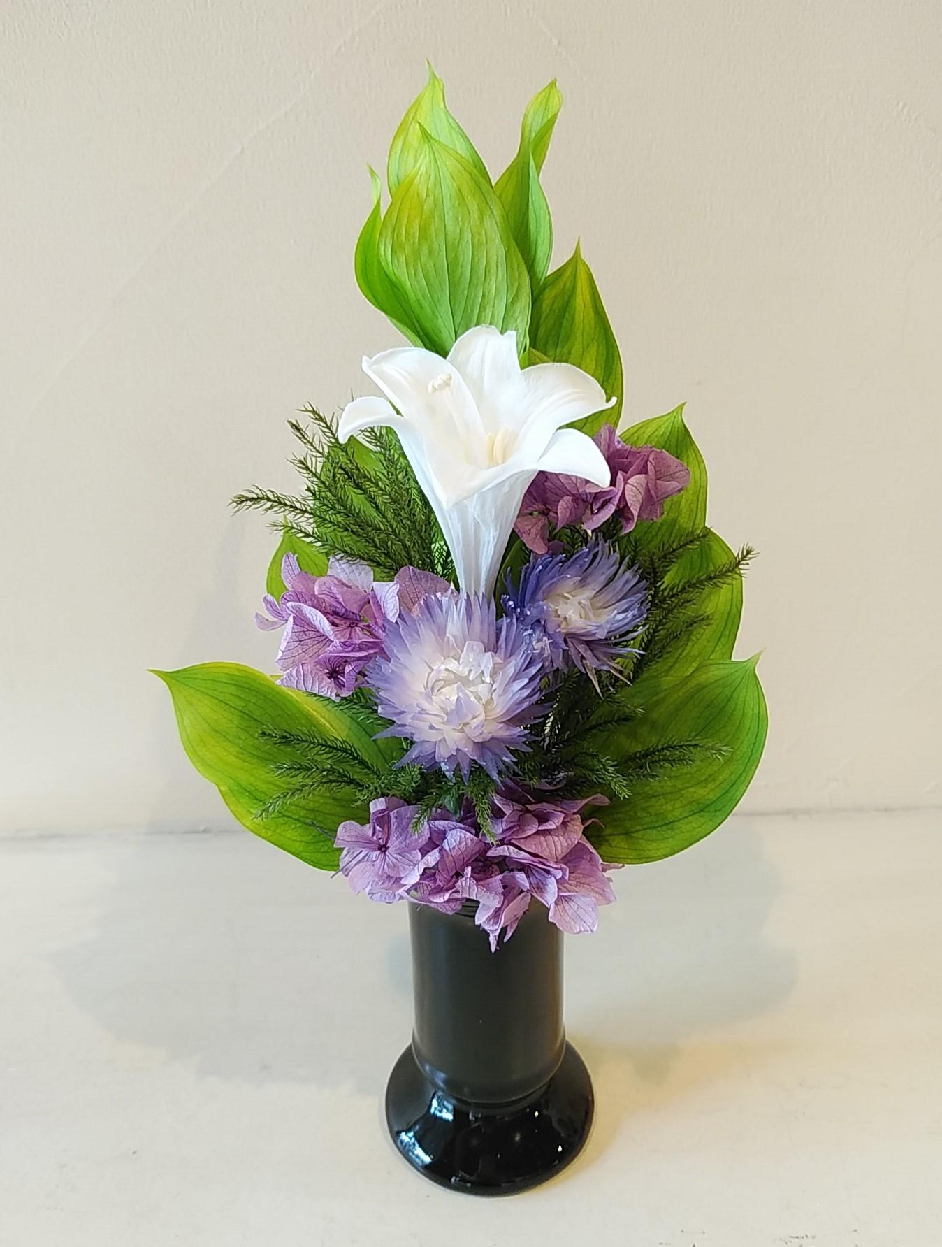 1DAY:プリザーブドフラワーでおしゃれな仏花を作ろう 20/08/04