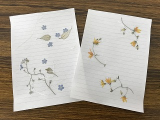 体験:花遊び 押し花アート