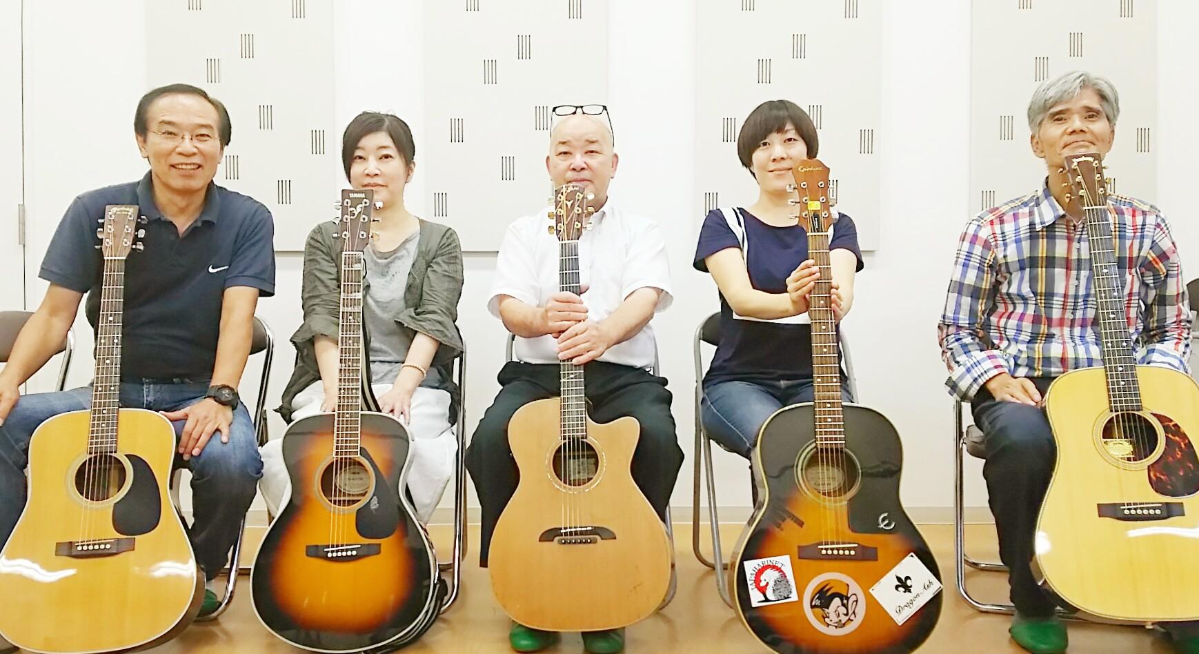 通期:まる先生のフォークギター教室【隔週コース】 8月21日~5回
