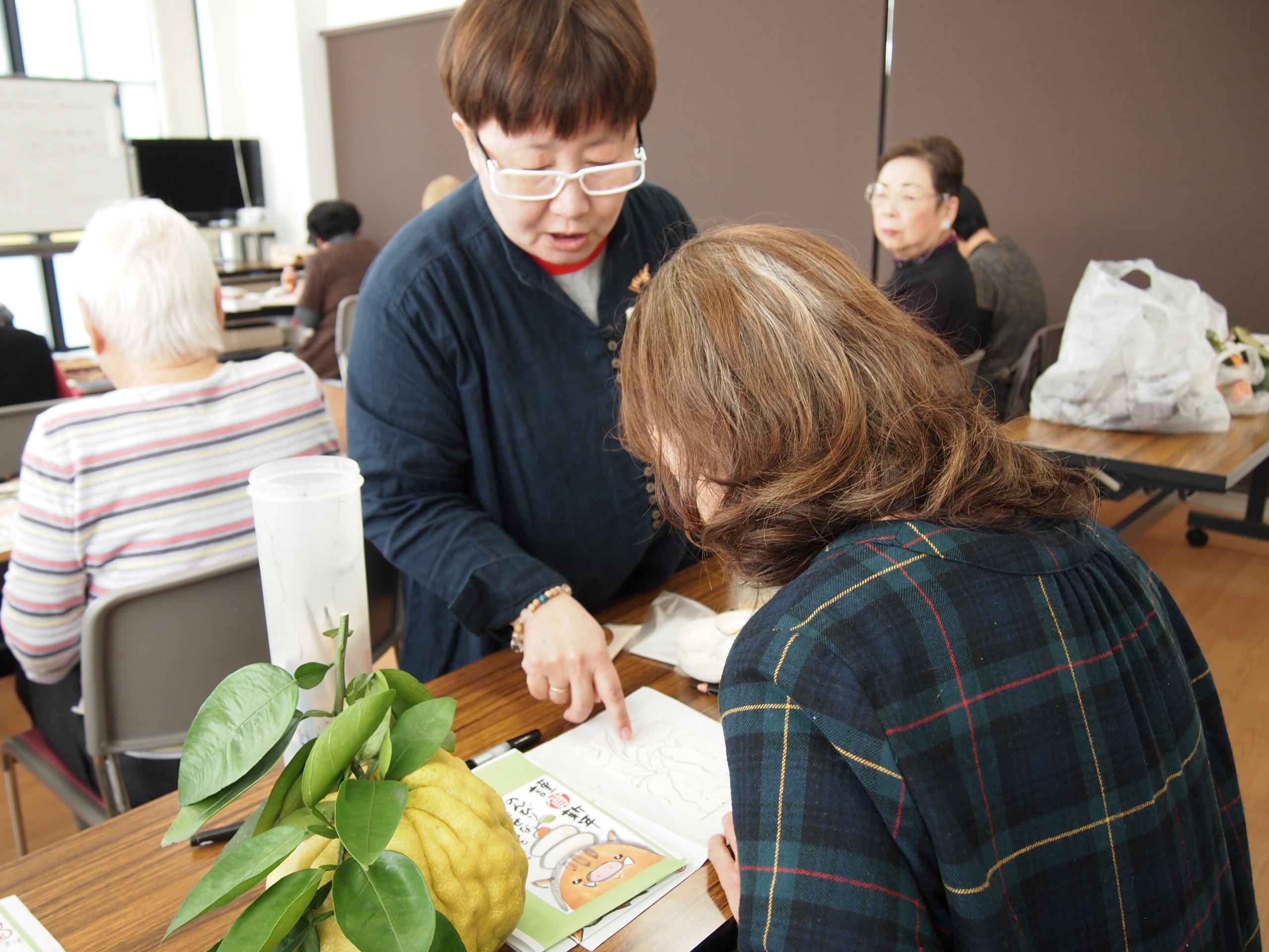 〇通期:絵手紙セミナー 【高松校・火曜クラス】 2月4日~
