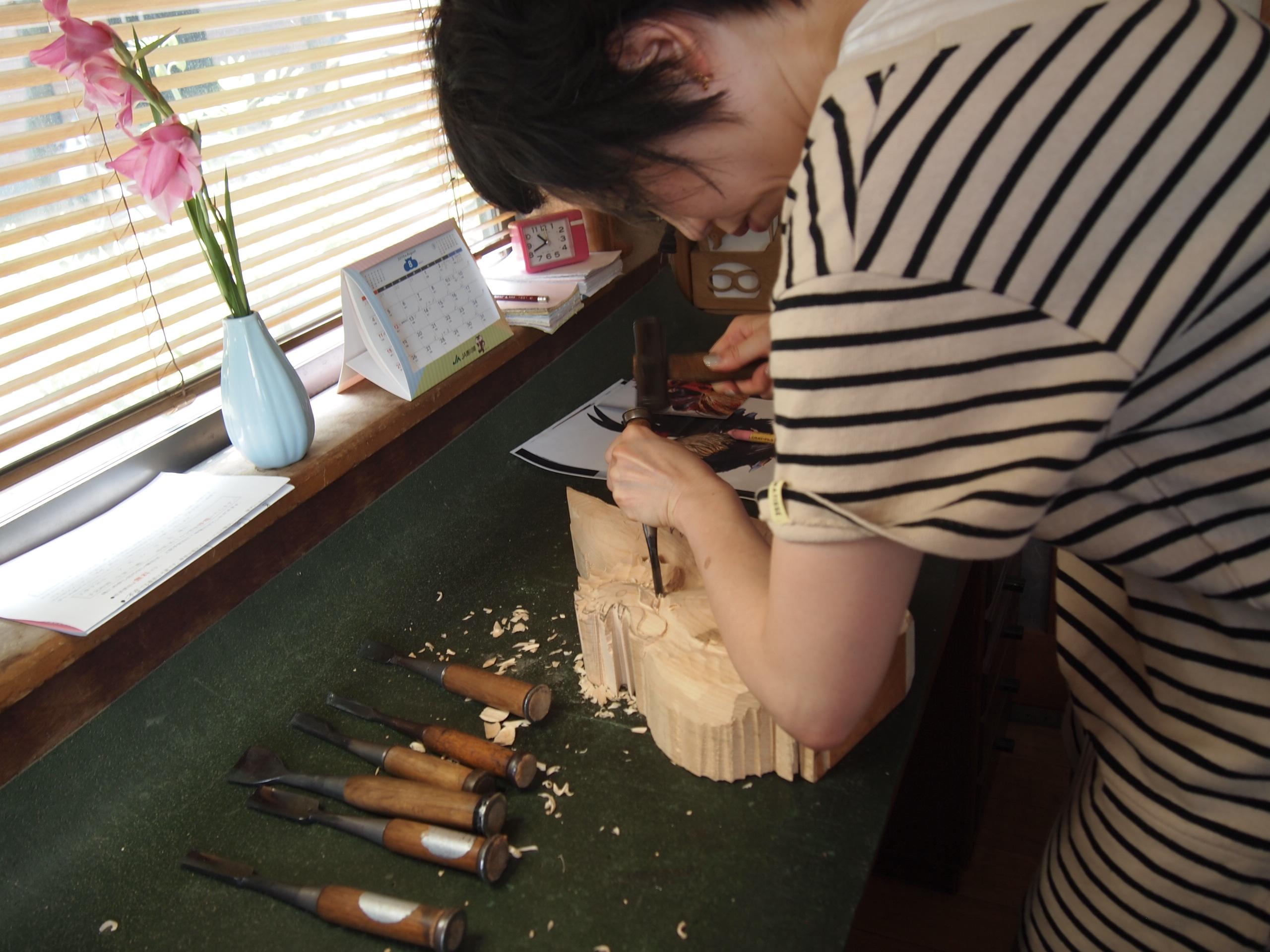 通期:香川県伝統工芸士に学ぶ やさしい木彫り教室【水曜クラス】 7月15日~