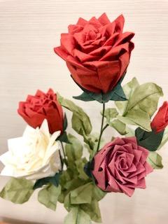 1Day:ペーパーフラワー教室~秋のバラ~ 【10月】