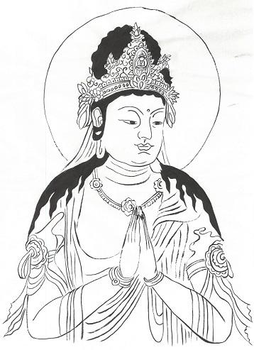体験:仏の世界をのぞいてみよう 写仏教室