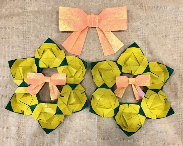 【高松本校】1Day:実用折り紙教室 ~フレーベル模様折り6個つなぎリース~