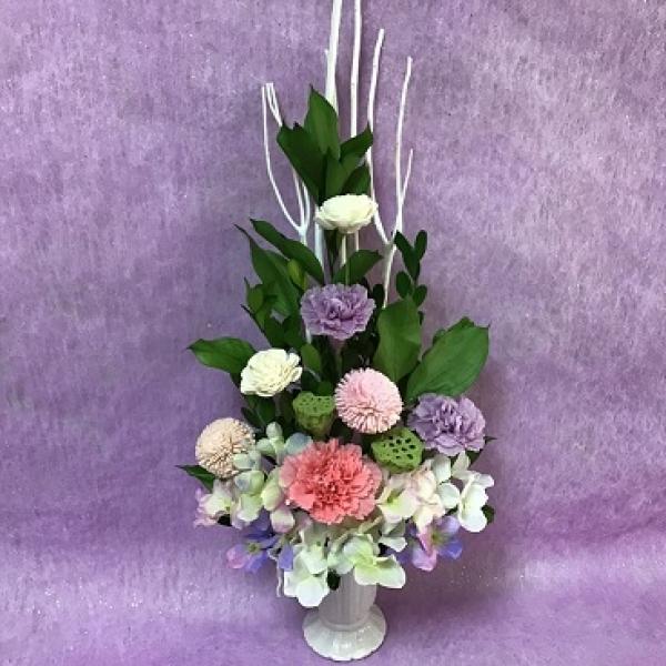 1DAY:プリザーブドフラワー「お供えの花」