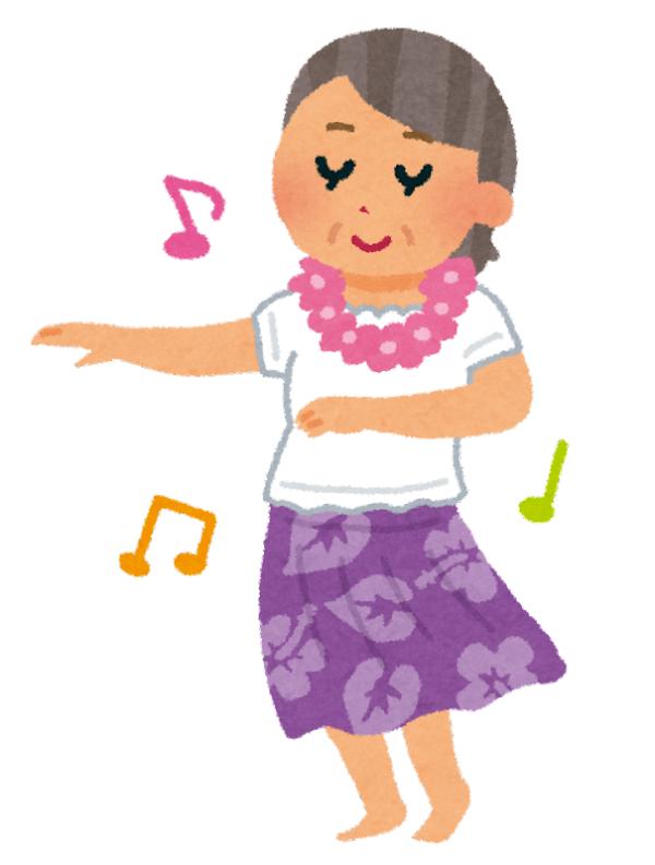 通期:元気で長生きしたい方むけハワイアンダンス 初心者・経験者を問わず65歳以上のクラス