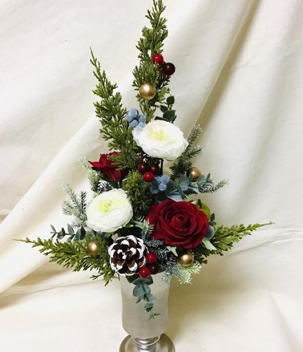 1DAY:アーティフィシャルフラワー「クリスマスツリー・アレンジメント」